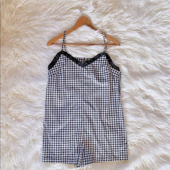 Topshop Size 10 Gingham Playsuit Brand New With Tags Women's Clothing